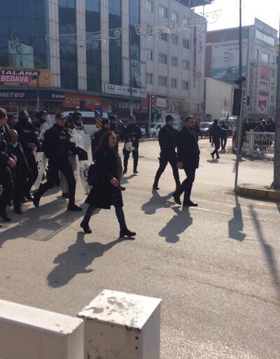 HDP'li vekillerin Leyla Güven'e destek yürüyüşüne izin verilmedi