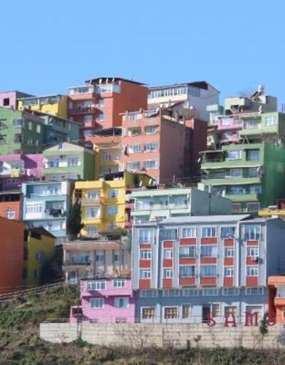 Olimpiyat renkli evler ilgi odağı oluyor