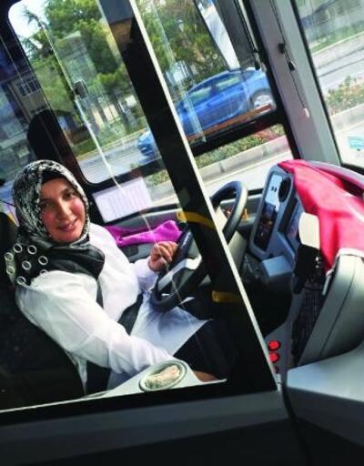 Kırşehir'in ilk kadın otobüs şoförü
