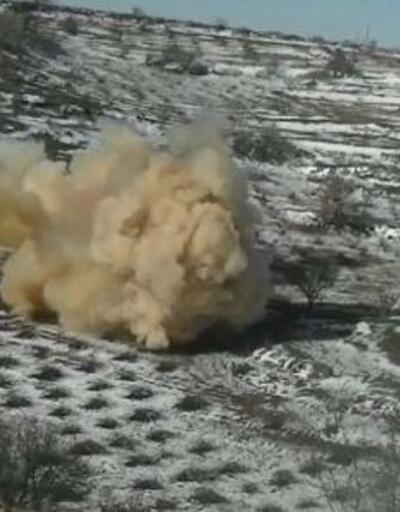 Mardin'de ele geçirilen 150 kilo patlayıcı, imha edildi