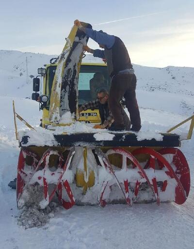 Kardan kapanan Geçittepe yolu açıldı