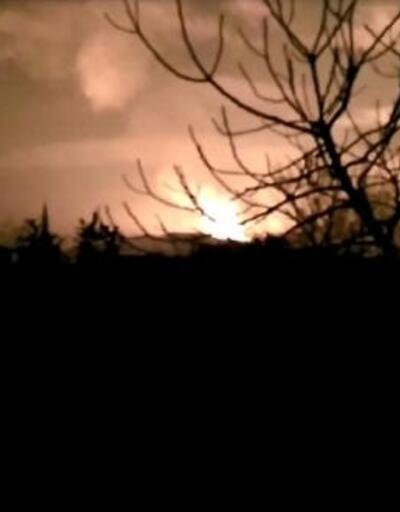 Sakarya'da doğal gaz hattında patlama sonrası yangın