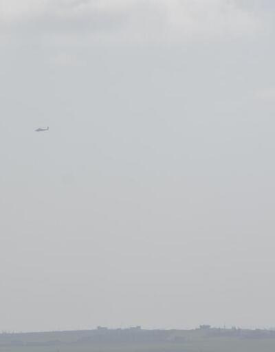 ABD helikopterlerinden Menbiç sınırında devriye uçuşu