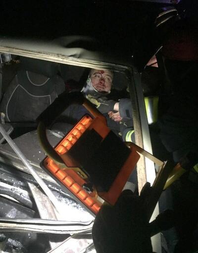 Otomobil TIR'a arkadan çarptı: 1 yaralı
