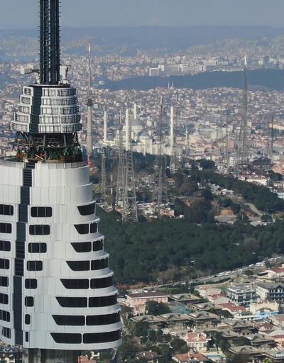 Çamlıca televizyon kulesinde yeni 5 kat yolda
