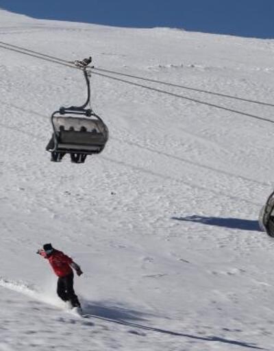 Türkiye'nin denize en yakın kayak merkezine ziyaretçi akını