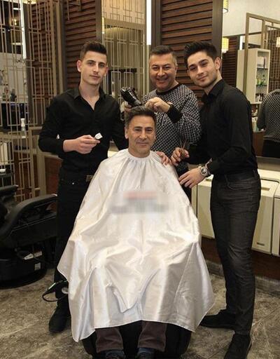 İzzet Yıldızhan'ı çocukları tıraş etti