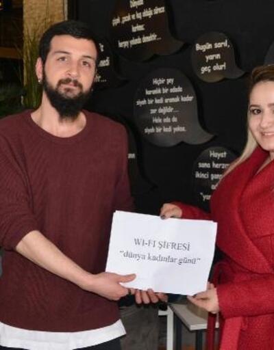 Kablosuz internet şifrelerinde kadın günü farkındalığı