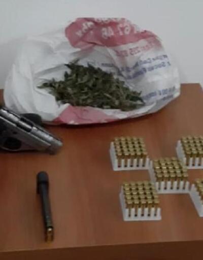 Evinde silah ve uyuşturucu ile yakalanan şüpheli tutuklandı