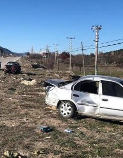 Denizli'de otomobiller çarpıştı: 1 ölü, 1 yaralı