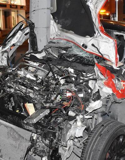 D-100 Karayolu'nda feci kaza: 1'i polis, 3 yaralı
