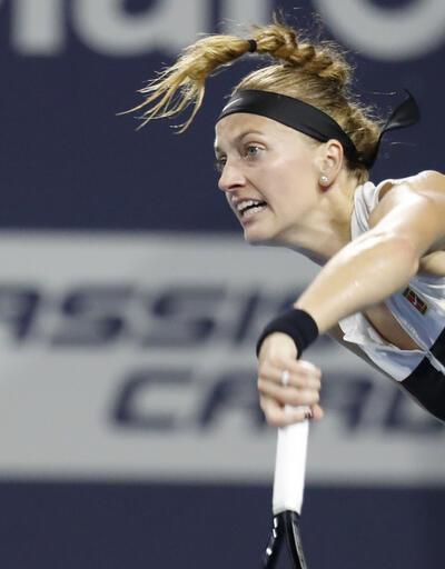 Kvitova çeyrek finalde elendi