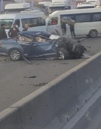 TIR'a çarpan otomobilin sürücüsü öldü