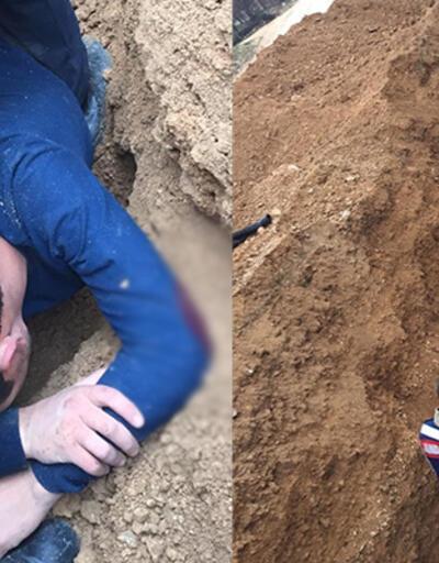 Malatya'da kanalizasyon çalışmasında göçük