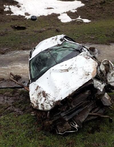 Solhan'da otomobil dereye yuvarlandı: 1 ölü