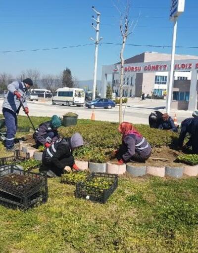 Gürsu Cüneyt Yıldız Devlet Hastanesi'ne çevre düzenlemesi