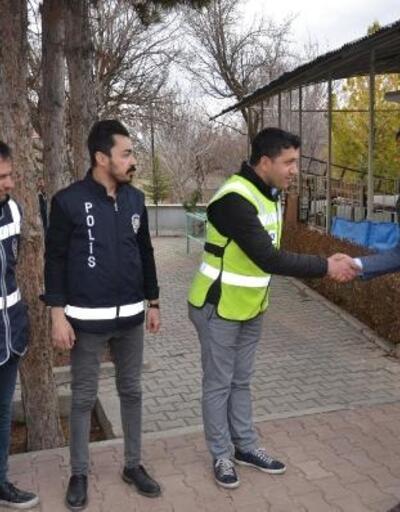 Sarıoğlan'da şehit polisler için mevlit okutuldu