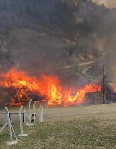 Manisa'da evin bacasında çıkan yangında 5 ev kullanılamaz hale geldi
