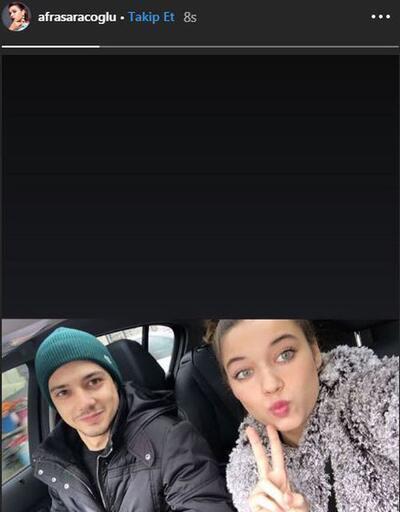Afra Saraçoğlu sevgilisi Mert Yazıcıoğlu'yla ilk kez görüntülendi