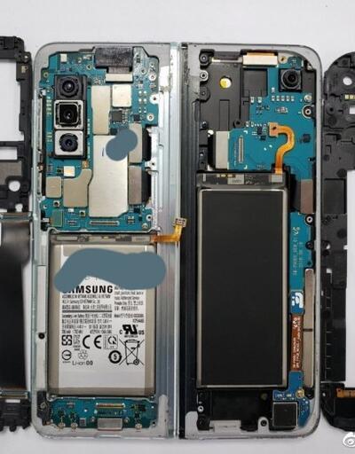 Samsung Galaxy Fold'un içi nasıl görünüyor?