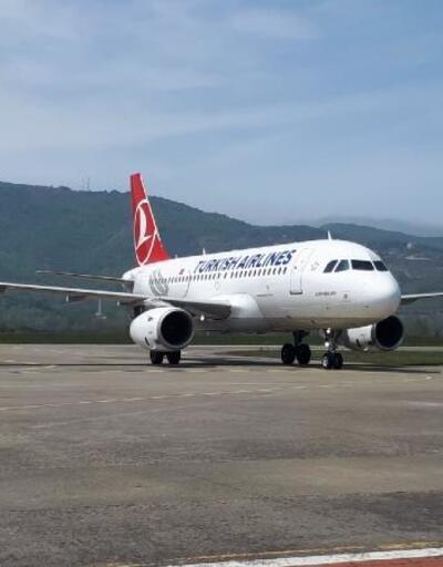 THY, Zonguldak Havalimanı'na test uçuşu yaptı