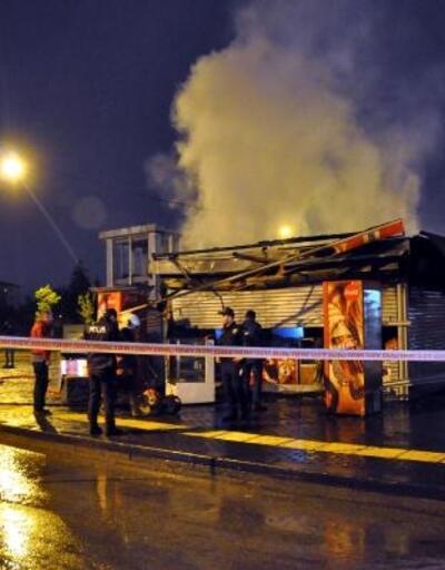 Başkent'te büfe yangını