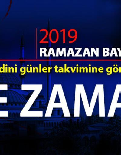 Ramazan Bayramı tatili kaç gün? 2019 Ramazan ve Kurban Bayramı tarihi