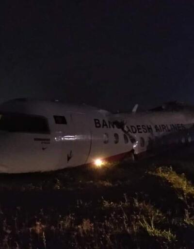 Myanmar'da yolcu uçağı pist dışına savruldu