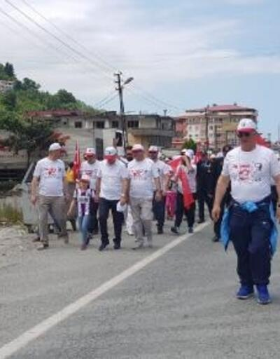 19 Mayıs'ın 100'üncü yılında Hopa'dan Atatepe'ye yürüdüler