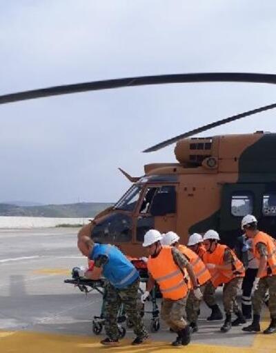 Askeri helikopter,8 yaşındaki çocuk için havalandırıldı