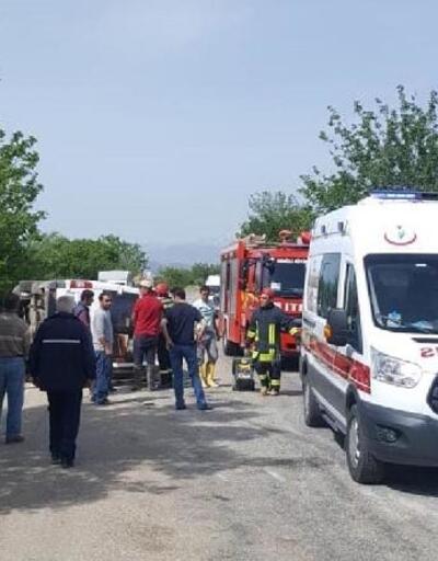 Denizli'de 3 aracın karıştığı zincirleme kaza: 7 yaralı