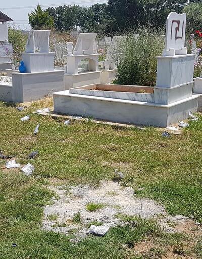 Türk mezarlığına çirkin saldırı