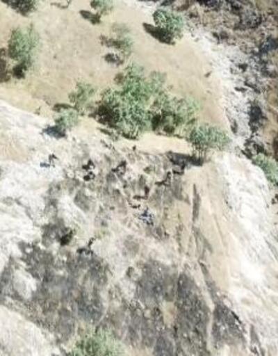 Hasankeyf'te 4 teröristin teslim olma anı görüntülendi