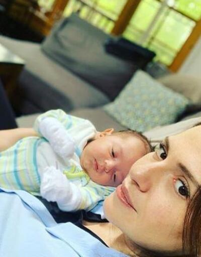 Sinem Uslu anneliğin tadını çıkarıyor