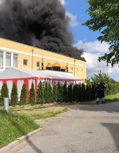 Kopenhag'da Fetih Camii'nde yangın çıktı