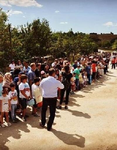Pınarhisar'da çocukların şeker toplama etkinliği