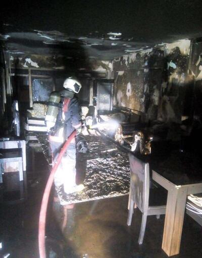 Ankara'da korkutan yangın: 1 yaralı