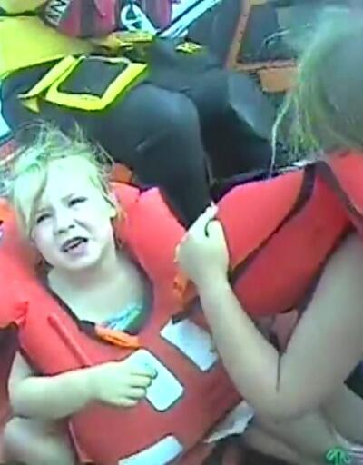 Açık denize sürüklenen çocukları sahil güvenlik kurtardı