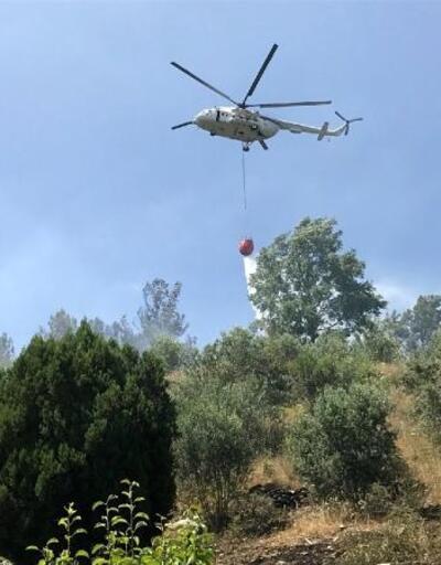 Akseki'de orman ve tarım arazisinde yangın