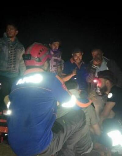 Mantar toplarken kayalıklardan düştü, AFAD kurtardı