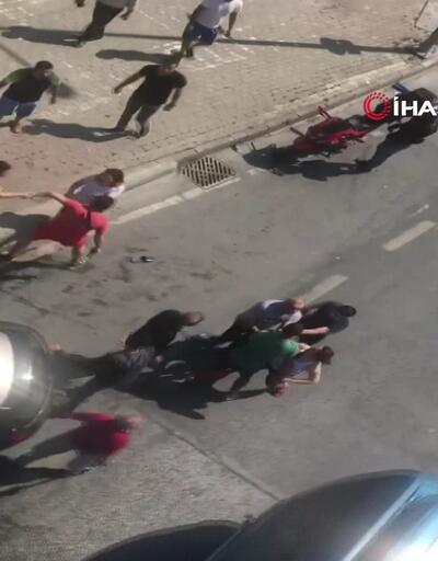 Kazazedeler birbirine girdi polis silah çekti