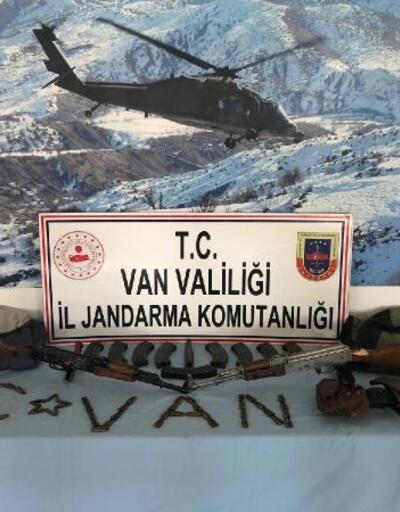 Başkale'de PKK'nın silah ve mühimmatı ele geçirildi
