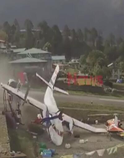 Nepal'deki uçak kazasına ait yeni görüntüler ortaya çıktı