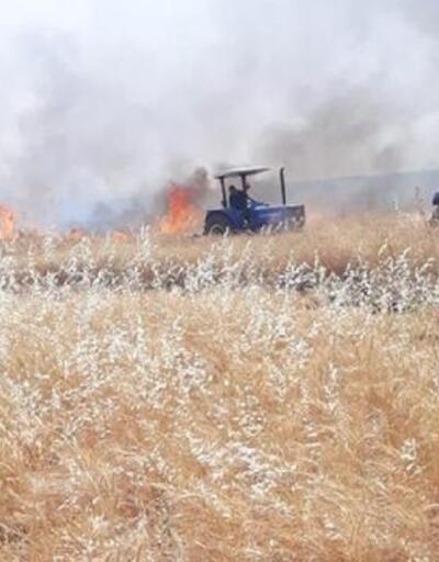 4 bin dönümlük ekili buğday, kül oldu