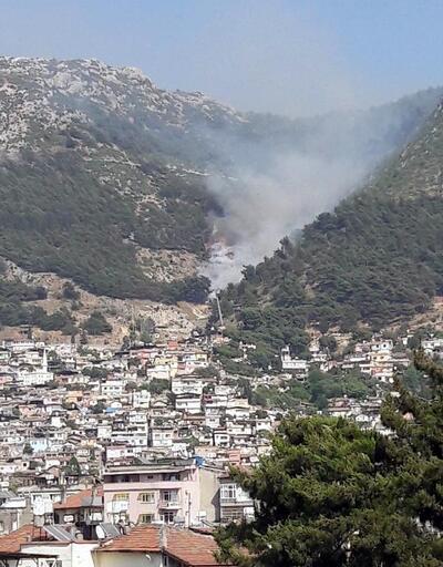 Antakya'da Habib-i Neccar Dağı'nda yangın