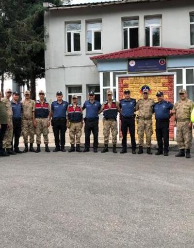 Andırın'da, polisten jandarmaya ziyaret