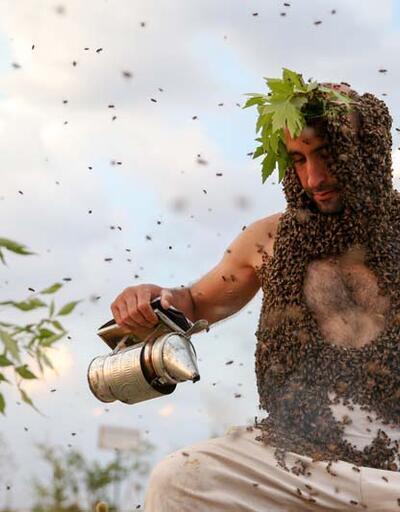 'Arı Adam'ın hedefi Guinness'e girmek