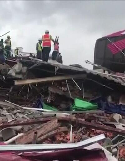 Kamboçya'da 7 katlı inşaat çöktü: 7 ölü, 21 yaralı