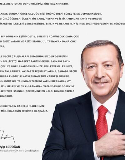 Cumhurbaşkanı'ndan tam sayfa ilan