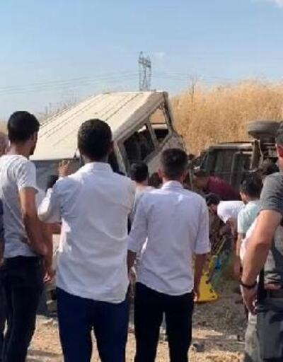 İşçileri taşıyan minibüs tarlaya uçtu: 1 ölü, 5 yaralı